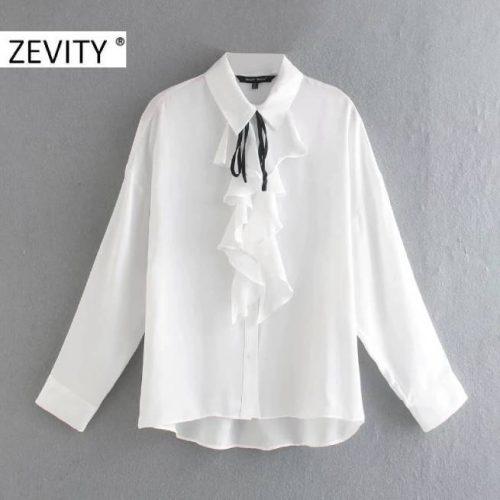 Blusa de manga larga con Volantes ALIEXPRESS