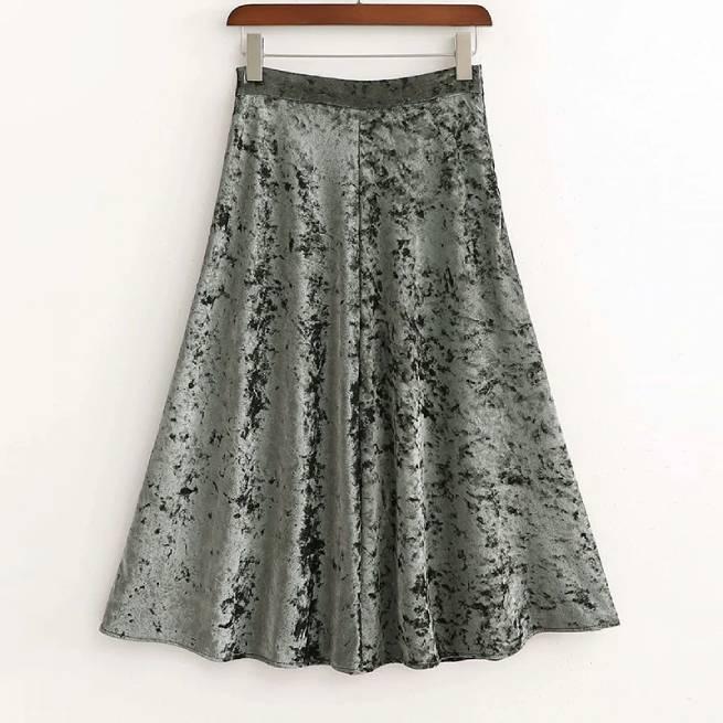 Falda de Terciopelo ALIEXPRESS