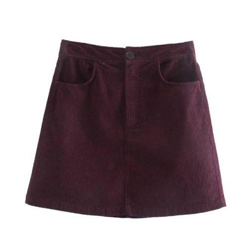 Minifalda Corta de Pana ALIEXPRESS