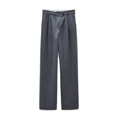 Pantalon Ancho Asimetrico ZARA