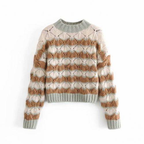 Suéter de Punto Abierto Vintage ALIEXPRESS