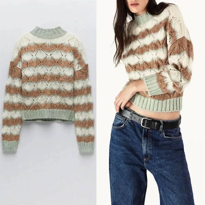 Suéter de Punto Abierto Vintage ALIEXPRESS_1
