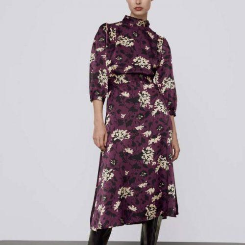 Vestido Estampado Floral ZARA