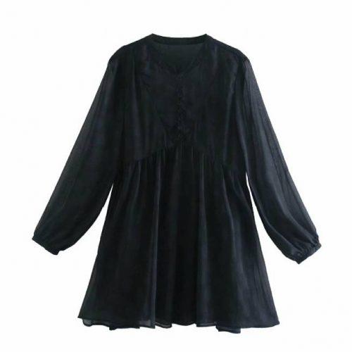 Vestido Estampado Negro ALIEXPRESS