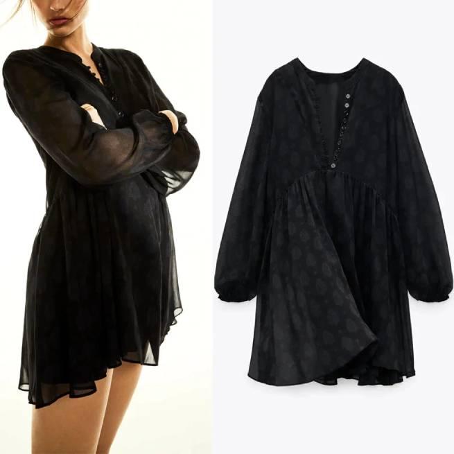 Vestido Estampado Negro ALIEXPRESS_1