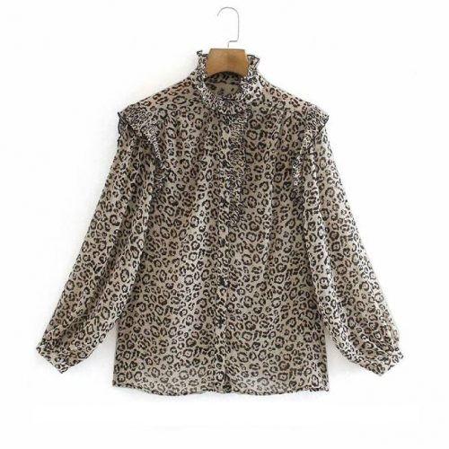 Camisa Estampado Leopardo ALIEXPRESS