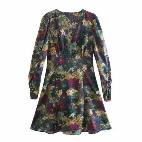 Vestido Mini Estampado Floral ALIEXPRESS