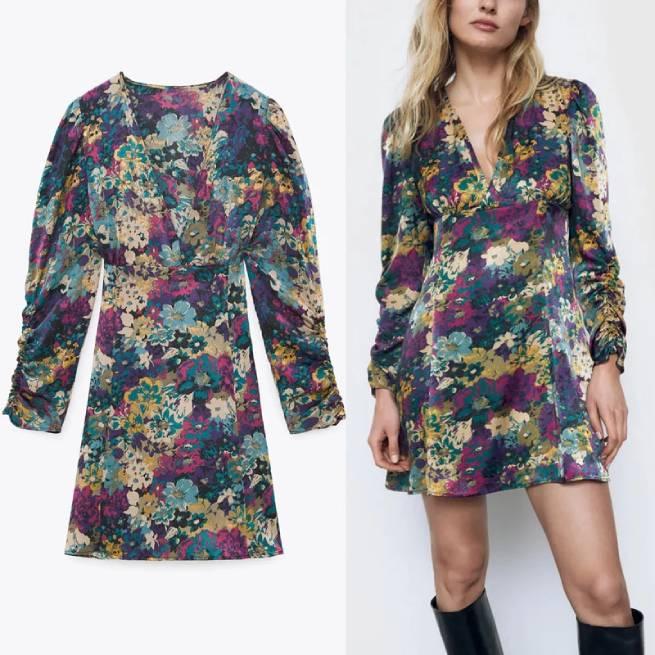 Vestido Mini Estampado Floral ALIEXPRESS_1