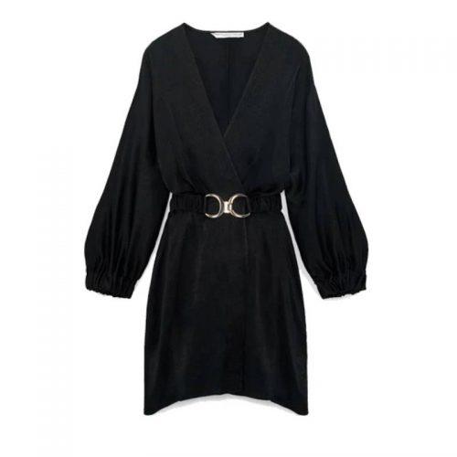 Vestido Negro Cinturon ALIEXPRESS