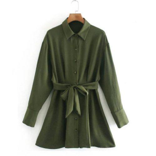 Vestido Verde con Cinturon ALIEXPRESS
