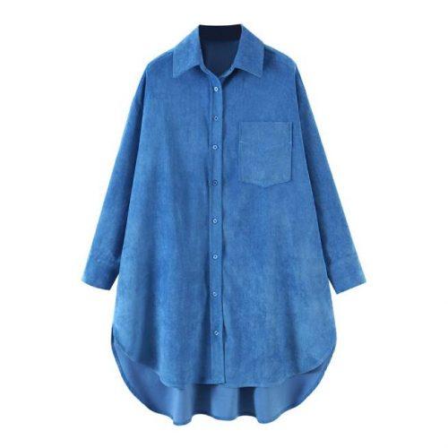 Blusa Azul de Pana ALIEXPRESS