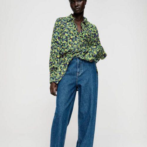 Camisa Estampada Flores Multicolor ZARA
