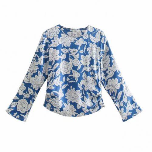 Camisa Estampado Floral Azul ALIEXPRESS