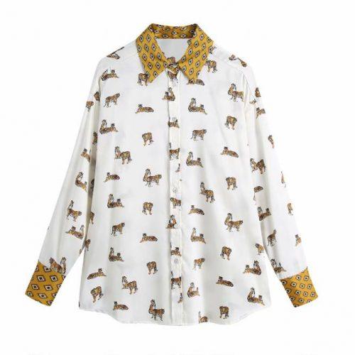 Camisa con Estampado de Animales ALIEXPRESS