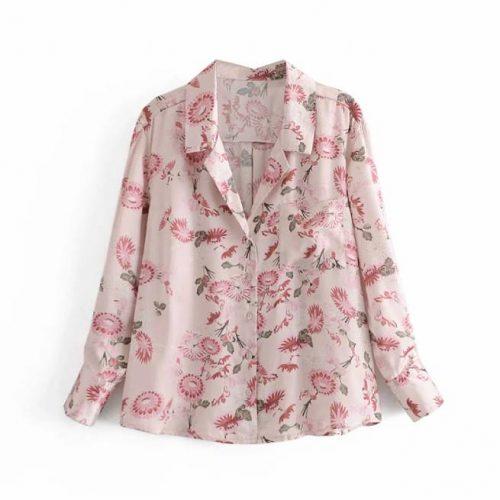 Camisa Estampado Floral Rosa ALIEXPRESS