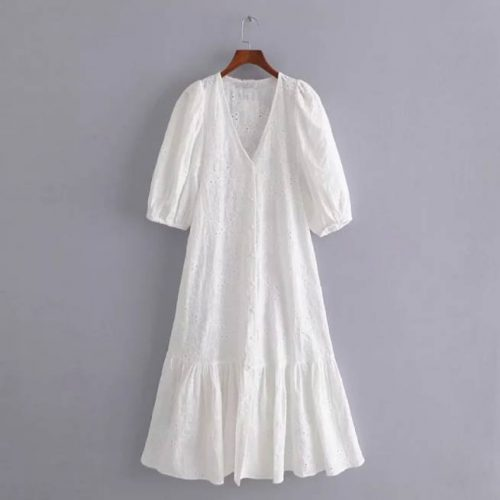 Vestido Blanco Troquelado ALIEXPRESS
