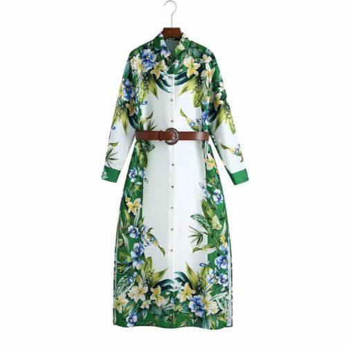 Vestido Estampado Floral con Cinturon ALIEXPRESS