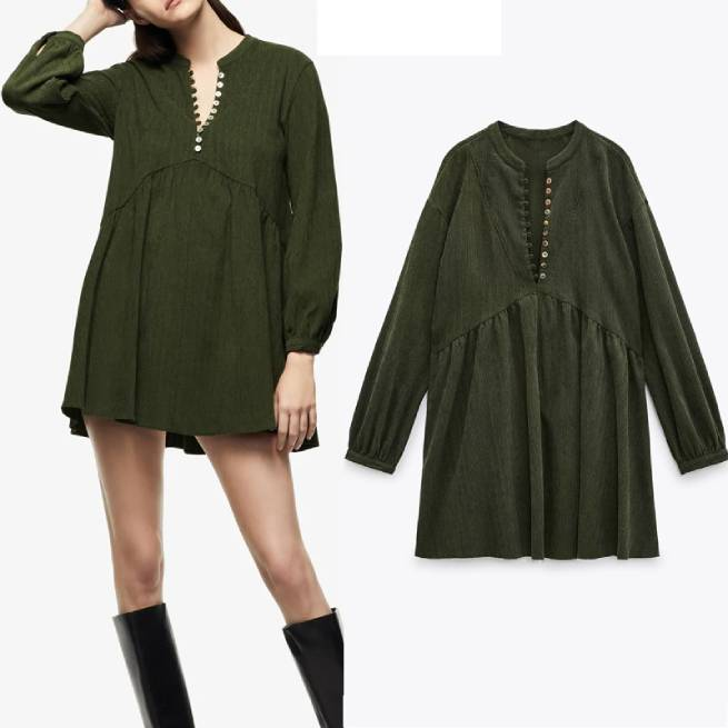Vestido Mini Pana Verde ALIEXPRESS