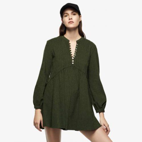 Vestido Mini Pana Verde ZARA
