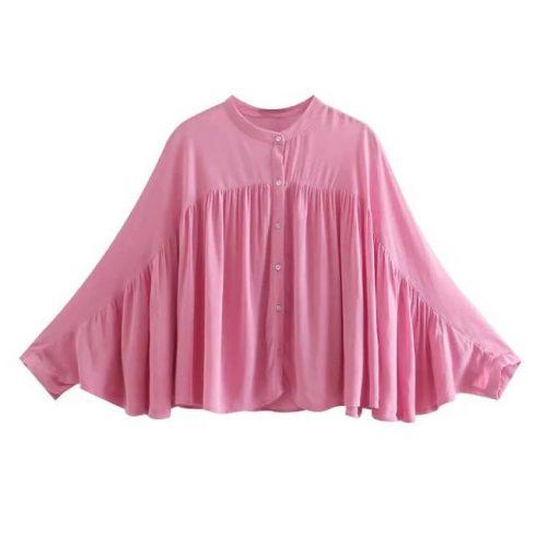 Camisa Rosa Manga Larga ALIEXPRESS