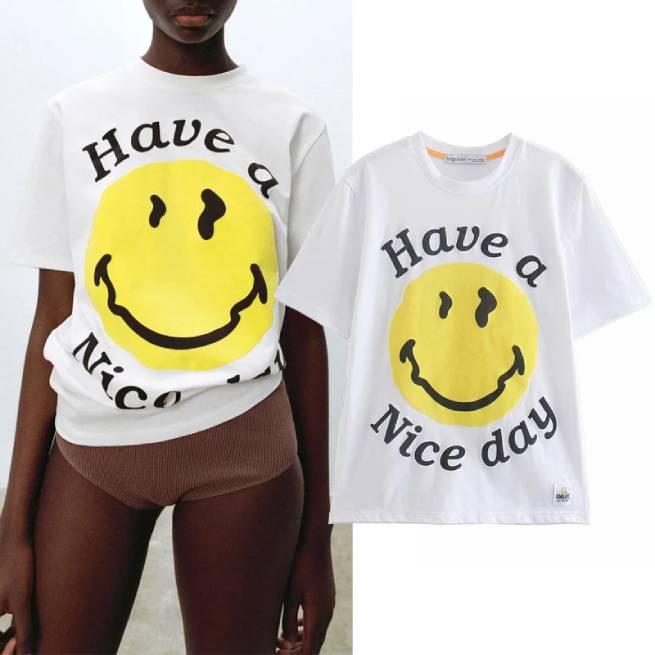 Camiseta Smiley Happy Collection ALIEXPRESS