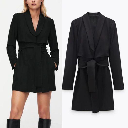 Vestido Blazer Cinturón Negro ALIEXPRESS