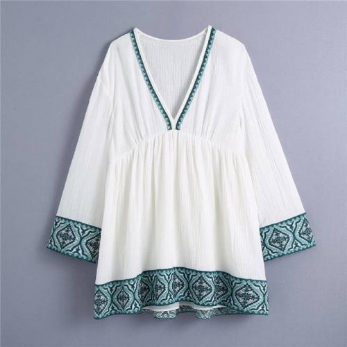 Vestido Bordado Blanco ALIEXPRESS