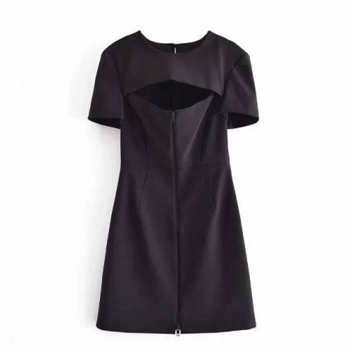 Vestido Corto Negro Cremallera ALIEXPRESS