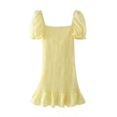 Vestido Elastico Amarillo ALIEXPRESS