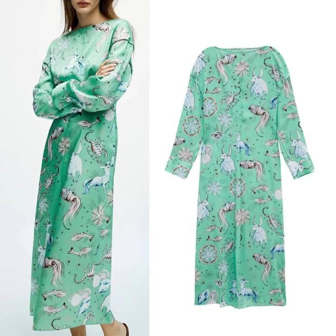 Vestido Estampado Limited Edition ALIEXPRESS