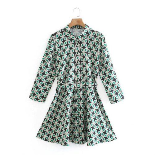 Vestido Estampado Verde ALIEXPRESS