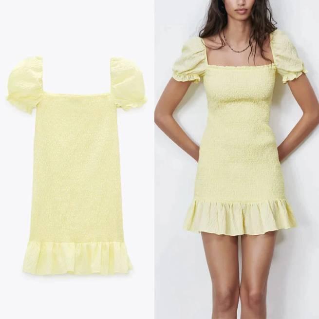 Vestido Estructura Amarillo ALIEXPRESS