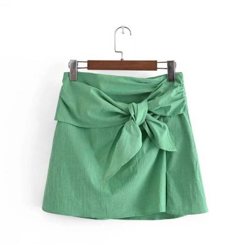 Falda Mini Lazo Verde ALEIXPRESS