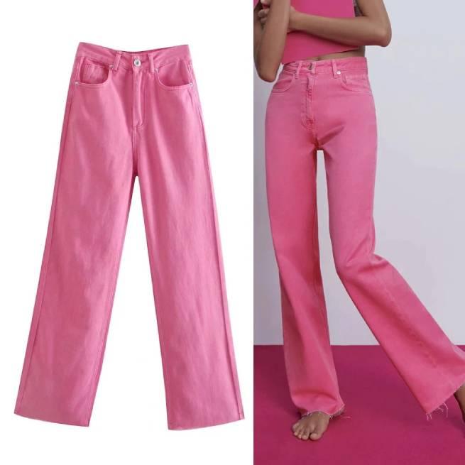 Jeans Wide Leg Full Length Color ALIEXPRESS