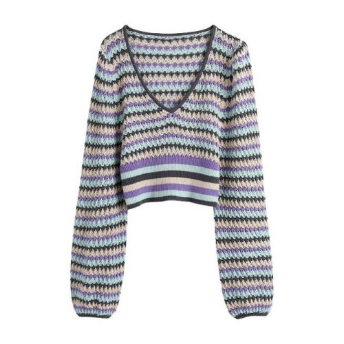 Jersey Punto Cropped Multicolor ALIEXPRESS