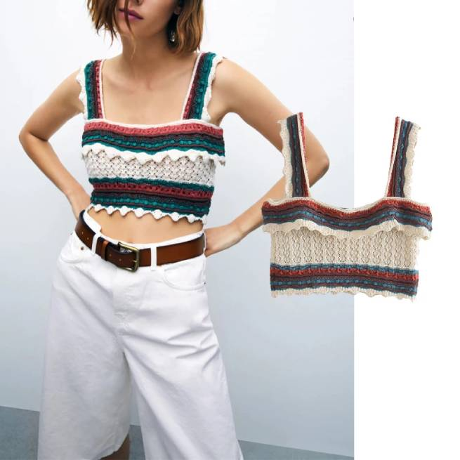 Top Punto Crochet ALIEXPRESS
