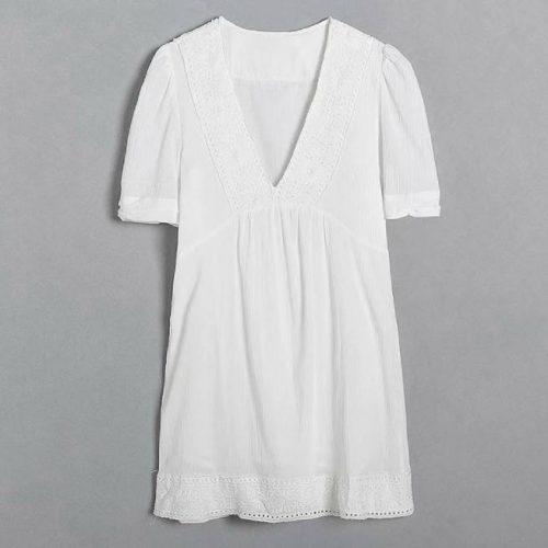 Vestido Con Lino Blanco ALIEXPRESS