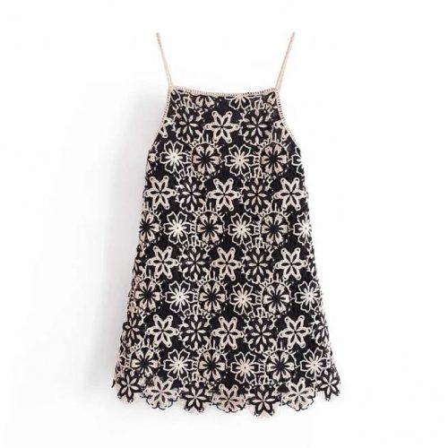 Vestido Corto Crochet ALIEXPRESS