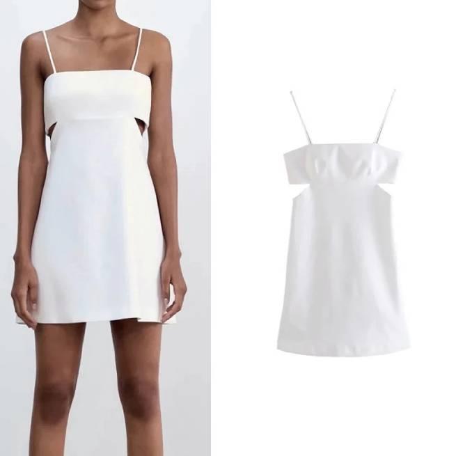 Vestido Cut Out Blanco ALIEXPRESS