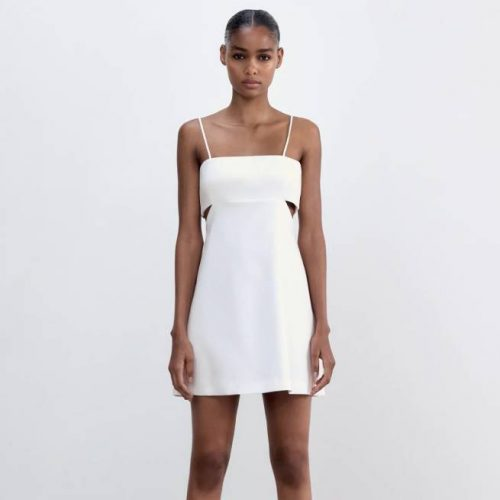 Vestido Cut Out Blanco ZARA