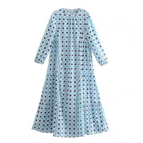 Vestido Estampado Vintage ALIEXPRESS