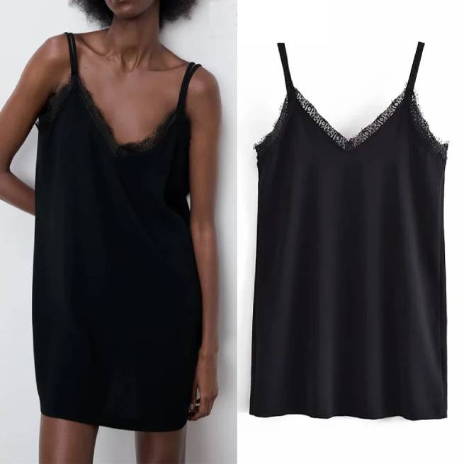 Vestido Lencero Negro ALIEXPRESS