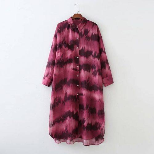 Vestido Midi Holgado Tie Dye ALIEXPRESS