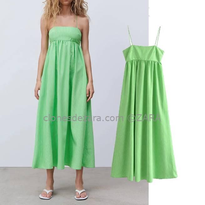 Vestido Midi Rayas Verde ALIEXPRESS