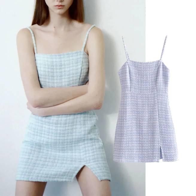 Vestido Mini Estructura Azul ALIEXPRESS