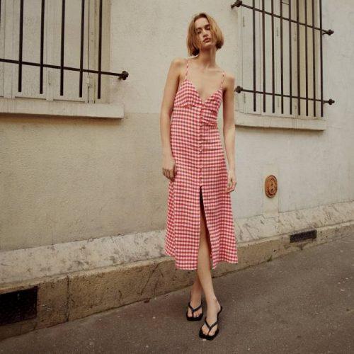 Vestido Tirantes Cuadro Vichy ZARA