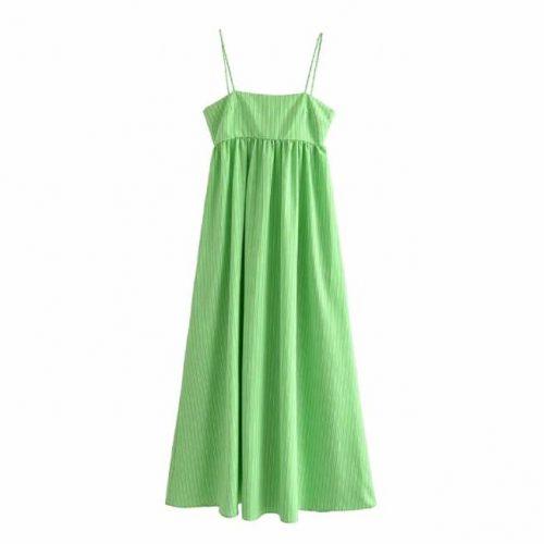 Vestido Verde Tirantes Midi ALIEXPRESS