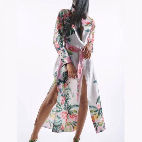 Vestido Camisero Tropical ZARA