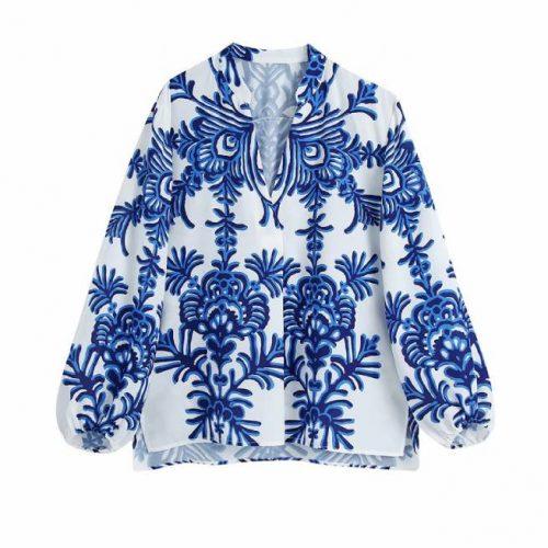 Blusa Estampada Azul ALIEXPRESS