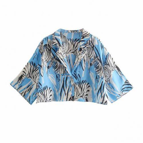 Camisa Cropped Estampada ALIEXPRESS